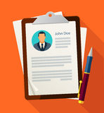 Concept with business cv resume Royalty Free Stock Photography