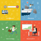 Concept of business development vector banners Royalty Free Stock Photography