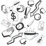 Concept of business doodles. Stock Image
