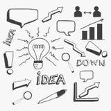 Concept of business doodles. Stock Photos