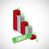 concept business falling graph sign concept Royalty Free Stock Photo