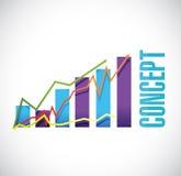 Concept business graph sign concept. Illustration design over white Stock Photos