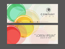 Concept of business header. Stock Photos