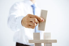 Concept of business hierarchy and human resources Stock Images