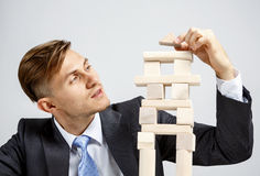 Concept of business hierarchy and human resources Royalty Free Stock Photo
