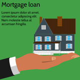 Concept business icon of the mortgage loan. Royalty Free Stock Photo