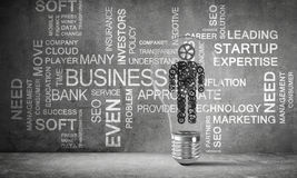 Concept of business innovations for mankind. Royalty Free Stock Photography