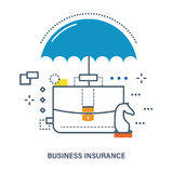 Concept of business insurance. Deposit protection. Flat Vector illustration. Can be used for banner, business data, web design, brochure template Royalty Free Stock Photos