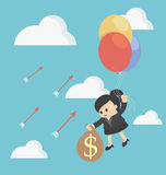 The concept of business losses Stock Photo
