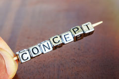 Concept business marketing letters placed on a desk in precious Royalty Free Stock Image