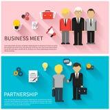 Concept of business meeting, teamwork, partnership Stock Photos