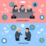 Concept of business meeting, teamwork, partnership Royalty Free Stock Photo