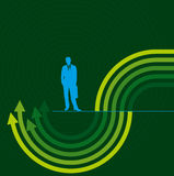 Concept of business movement, Arrows stock illustration