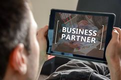 Concept of business partner Stock Photos