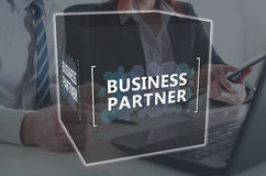 Concept of business partner. Business partner concept illustrated by a picture on background Royalty Free Stock Image