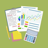 Concept for business planning and accounting, analysis Stock Image