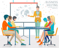 Concept of business presentation. Royalty Free Stock Photo