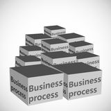 Concept of Business process text boxes Stock Photography