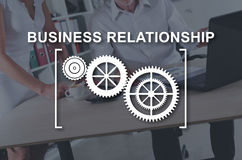 Concept of business relationship. Business relationship concept illustrated by a picture on background Stock Photo
