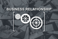 Concept of business relationship Royalty Free Stock Images