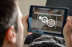 Concept of business relationship Royalty Free Stock Photos