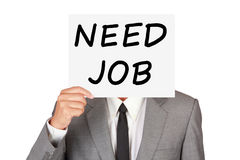 Concept business show paper say need job Stock Photography
