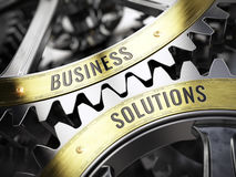 Concept Business Solutions on gearwheels Royalty Free Stock Images