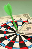 Concept of business success - dart and dollar Stock Image