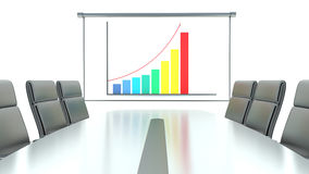 Concept of business success in the meeting room Royalty Free Stock Photo
