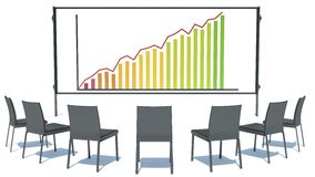 Concept of business success in the meeting room Royalty Free Stock Image