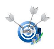 Concept business target graph sign Stock Photos