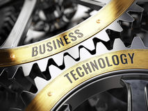 Concept Business Technology on gearwheels Stock Photography