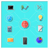 Concept of business thinking and activities Royalty Free Stock Photography