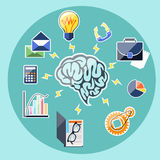 Concept of business thinking and activities Stock Photography