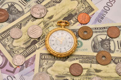 The concept of business time is money Royalty Free Stock Photos