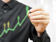 Concept of  Businessman career to the top of success Stock Image