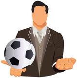 Concept of businessman or football manage Royalty Free Stock Photography
