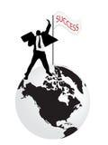 Concept of businessman that have success. Vector of businessman that have success stock illustration