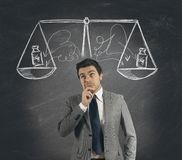 Business decision. Concept of businessman with his decision Stock Photos