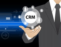 Concept Businessman in his hands ,CRM Royalty Free Stock Photo