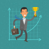 Concept businessman and success Stock Photography
