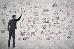 Concept businessplan stock fotografie