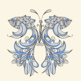 Concept butterfly with wings - fishes. Fishes can be used separately Royalty Free Stock Photos