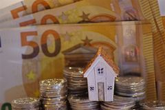 Concept of buying a property, concept of financing a house, getting a loan...  stock image