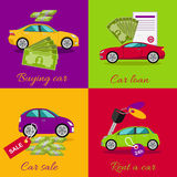 Concept of Buying Selling Rental Car Royalty Free Stock Photography