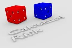 Concept calculé de risque illustration libre de droits