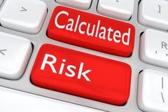 Concept calculé de risque illustration stock