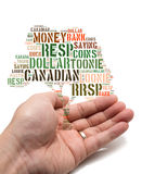 Concept canadien de l'épargne Images stock