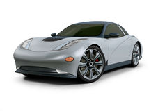Concept Car 3D Design. It is a concept design of a esportive car. Was made on a 3D software Stock Images