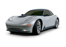 Concept Car 3D Design Royalty Free Stock Photo